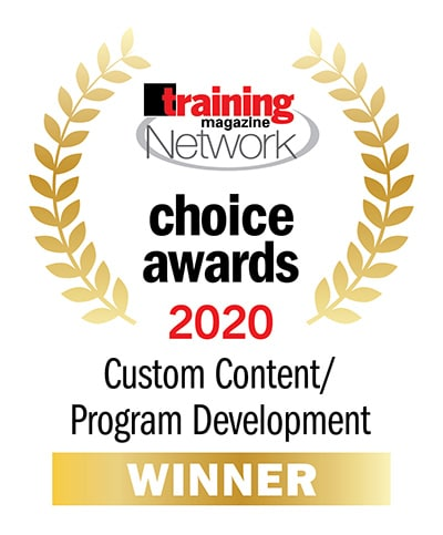 TrainingPros - 2020 Training Magazine Network Choice Award Winner | Custom Content and Program Development